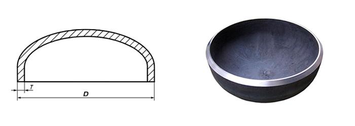 Заглушки стальные эллиптические ГОСТ 17379-2001 наружный диаметр 168 мм Ду 150