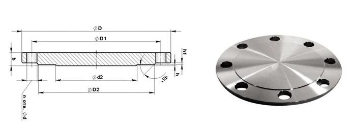 Заглушка фланцевая стальная Ру1,6 МПа (16кгс/см2)