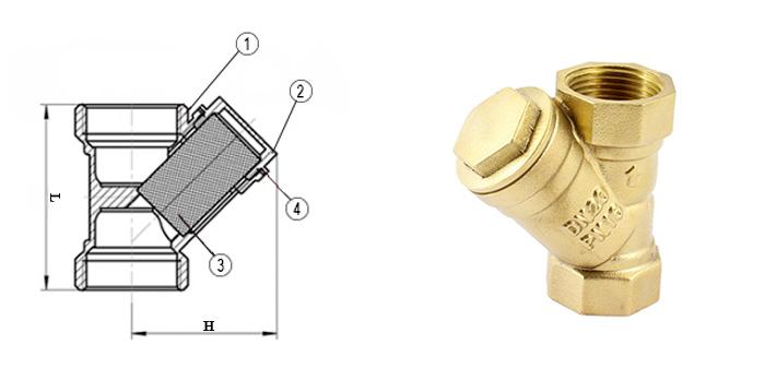 Фильтр латунный сетчатый муфтовый для воды