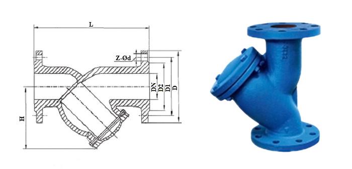 Фильтр осадочный чугунный (Ру 1,6 МПа) фланцевый