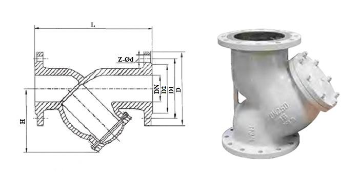 Фильтр осадочный стальной фланцевый Ру 16