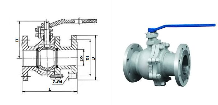 Кран шаровой стальной литой полнопроходной (Ру 2,5 МПа) фланцевый КШЛс (11с2фт)