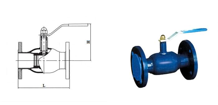 Кран шаровой стальной цельносварной стандартнопроходной (Ру 2,5  МПа) фланцевый КШ.Ц.Ф.025…