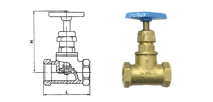 Вентиль латунный (Ру 1,0 МПа) муфтовый (ВВ и ВН) 15б3р