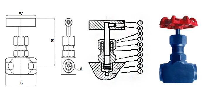 Вентиль 15нж54бк из нержавеющей стали муфтовый Ру 160