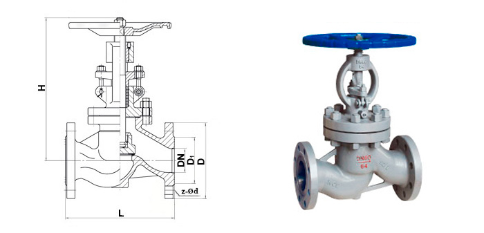 Вентиль стальной (Ру 6,4 МПа) фланцевый 15с27нж (15с52нж)