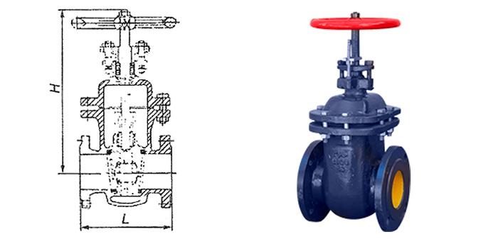 Задвижка чугунная 30ч47бк4 клиновая с невыдвижным шпинделем для газа