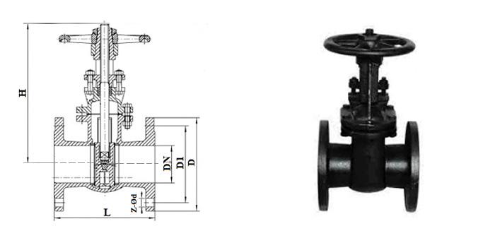 Задвижка чугунная параллельная (Ру 1,0 МПа) ручная фланцевая 30ч6бк
