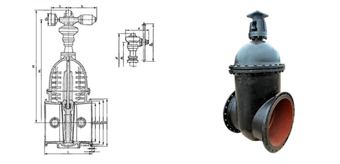 Задвижка чугунная клиновая 30ч930бр/30ч530бр под ручной редуктор или электропривод Ру 10