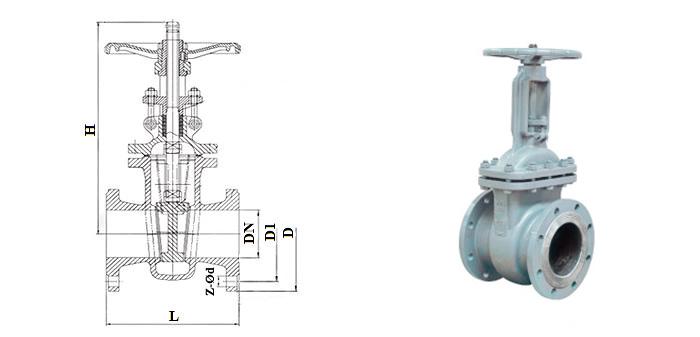 Задвижка стальная литая (Ру 1,6 МПа) ручная фланцевая 30с41нж (31с38нж)