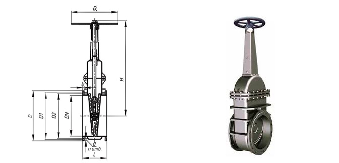 Задвижка стальная литая  (Ру 0,6 МПа) ручная фланцевая 30с46нж