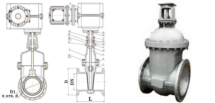 Задвижка стальная 30с527нж/30c927нж с невыдвижным шпинделем Ру 25