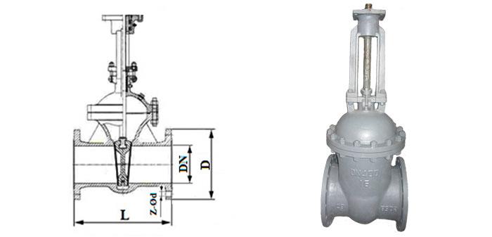 Задвижка стальная 30с541нж/30с941нж фланцевая под редуктор или электропривод Ру 16