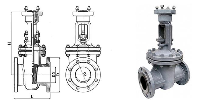 Задвижка стальная 30с576нж/30с976нж фланцевая под редуктор или электропривод Ру 64