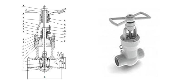 Задвижка стальная литая (Ру 15,0 МПа, Т