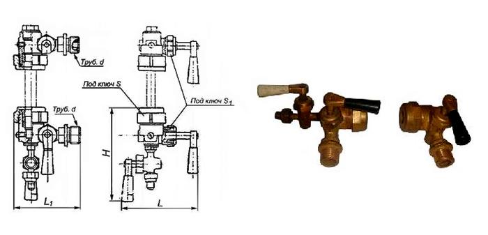 Запорное устройство указателя уровня 12Б1бк кранового типа цапковое Ру16