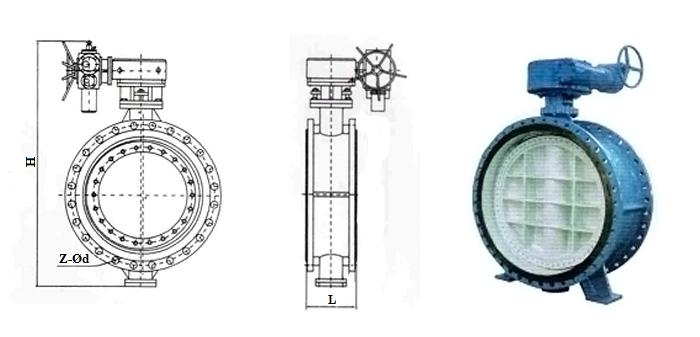 Затвор чугунный (Ру1,0 МПа) в комплекте с электроприводом фланцевый